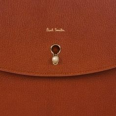 Paul Smith Women's Handcrafted Tan Leather Cross-Body Bag