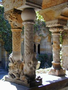 Column detail, Castle in Budapest, Hungary