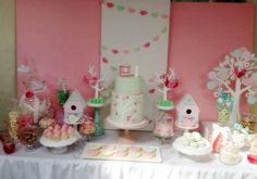 birdie party theme | Pink and Mint Bird Theme First Birthday Party