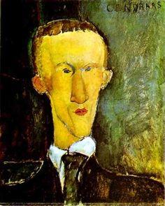 Portrait of Blaise Cendrars By Amedeo Modigliani ,1918