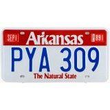 Reproduction de plaque américaine d'immatriculation ( license plate ) : ARKANSAS The Natural State