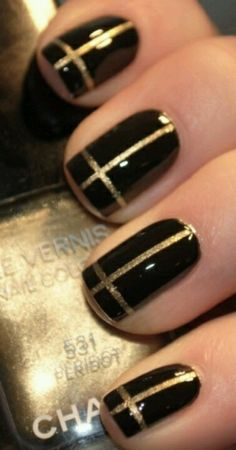 Black with gold cross