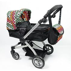 The New York Doll Collection Babyboo Bassinet Doll Stroller with FREE Carriage Bag
