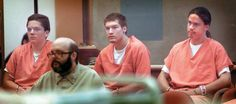 L to R: Jacob Delashmutt, Royce Casey and Joseph Fiorella on trial for the…