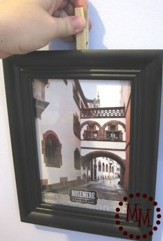 Picture Hanging Tip...Wish I had found this before I made two million holes in my wall to patch ~ LOL!