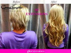 Great Lengths Before and After by Glo Extensions Denver