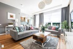 Dom 148 m2. - Średni salon, styl nowoczesny - zdjęcie od 4ma projekt