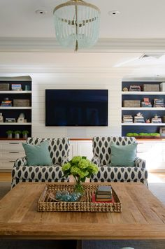 House of Turquoise: Olson Lewis Architects and Kristina Crestin Design - like the depth the dark paint behind cabinets creates