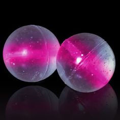 Pink light-up or #glow bouncing balls...Kid's love these! #toys
