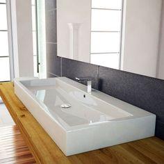 120cm-waschbecken-waschtisch-doppelwaschbecken-mit-ablaufabdeckung, Hause ideen