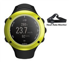 Suunto Ambit 2S - Lime with Heart Rate Monitor is the true GPS watch for explorers, mountaineers and ultra outdoor athletes.
