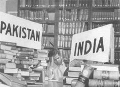 A library being divided during the Partition of India in 1947.