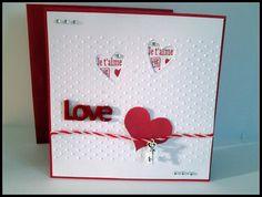 "Carte Saint - Valentin ""LOVE"" + enveloppe assortie : Cartes par sylviealacarte"