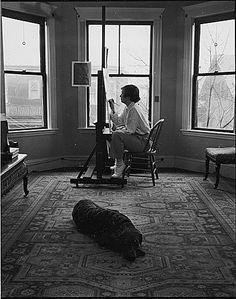 Honoré Sharrer in her studio