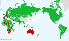Map shows Australia's political system is similar to Sudan and Algeria