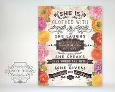 8 x 10-Kunstdruck Sprüche 31 Vintage von FancyThatDesignHouse