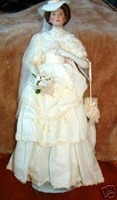 Flora The 1900's Bride Porcelain Collector Doll | eBay