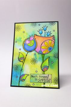 Henriette Geurkink - Card with stamps from PaperArtsy
