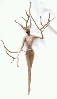 Tree Spirit - one of a kind wall sculpture by rdirenna on Etsy Spirited Art, Driftwood Crafts, Paperclay, Land Art, Wood Sculpture, Paper Mache Sculpture, Wire Art, Oeuvre D'art, Art Dolls