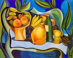 Emiliano Augusto Di Cavalcanti  Brazilian Painter  1897-1976      Natureza Morta com frutas