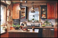 Cute country primitive kitchen