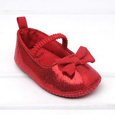 Baby Shoes Wedding/Dress/Casual Fabric Flats Red – USD $ 19.99