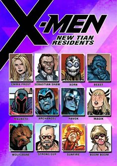 X-men: New tian Residents extras Marvel And Dc Characters, Comic Book Characters, Comic Character, Comic Books, Marvel Facts, Marvel Dc Comics, X Men, Superhero Groups, Alpha Flight
