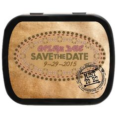 Branded with love, save the date personalized mints make the perfect invite! #wedding #unique #favors