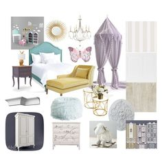 girl's bedroom by veryvlada on Polyvore featuring interior, interiors, interior design, дом, home decor, interior decorating, Redford House, PBteen, Barclay Butera and bedroom