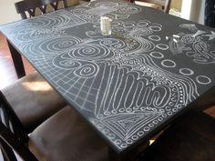Chalkboard table top