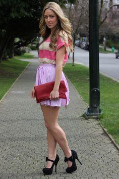 Zara Top  Skirt:  Beginning Boutique  Clutch: Kslademade   Heels: Nectar Clothing