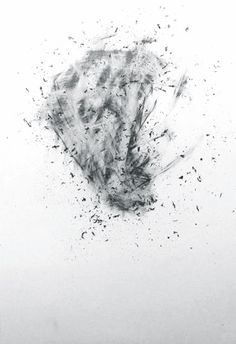 Valentin Emil Lubberger | Radiert (Erased 1), 2013 | graphite and ink on paper