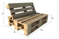 Pallet Garden Furniture, Diy Furniture Couch, Diy Couch, Furniture Ideas, Furniture From Pallets, Palette Furniture, Crate Furniture, Pallets Garden, Furniture Layout