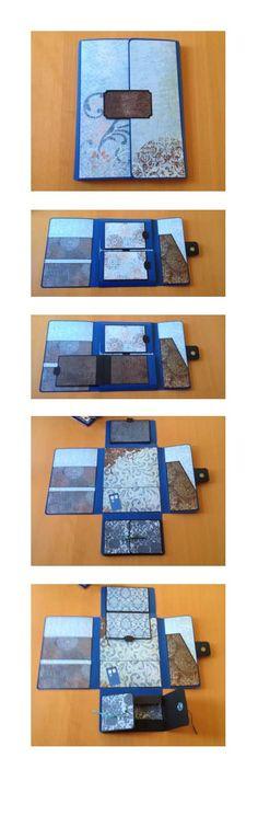 "Folio for travel photos... Using the Paper Studio ""Deja Blue"" papers"
