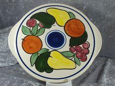 Staffel Limburg Echt Dom Keramik Tortenplatte Platte Teller Handgemalt 60er