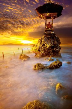 ocean temple... location in Nusa Penida island - Bali