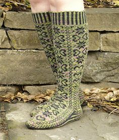 The Durmstrang Socks pattern is also available in 'Novel Knits', a book celebrating British Literature in stitches.