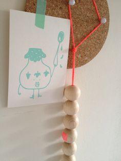 Houten ballen ketting, snel en makkelijk te maken!