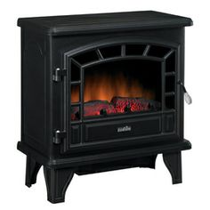 Duraflame�25-in W Black Metal Corner/Wall Electric Stove Thermostat and Remote Control