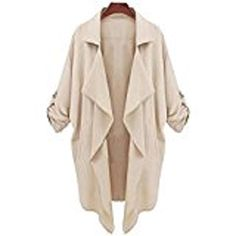 AMATM Women Windbreaker Casual Cardigan Tops Outwear Jacket Coat XL Khaki ** Read more  at the image link.Note:It is affiliate link to Amazon.