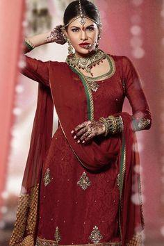 Pakistani Culture: Bridal Salwar Kameez Collection 2012