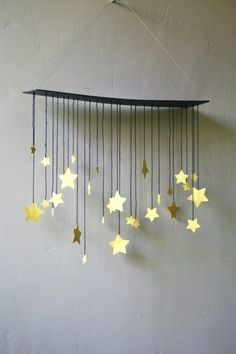 20 Marvelous DIY Wind Chimes - List of the most creative DIY and Crafts Star Mobile, Diy And Crafts, Crafts For Kids, Arts And Crafts, Paper Crafts, Noel Christmas, Christmas Crafts, Xmas, Carillons Diy