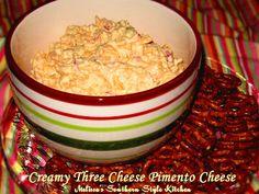 Melissa's Southern Style Kitchen: Creamy Three Cheese Pimento Cheese