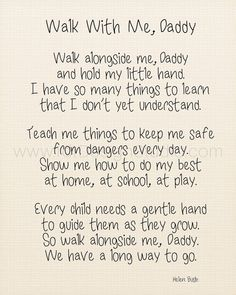 Walk With Me Daddy Fathers Day Poem Fathers Day by rdtDesignStudio