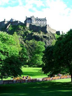 Princes Street Gardens - a park stretched along the foot of the Castle's rock. In my book I employ the gardens as a handy place for my characters to sit on benches and have arguments.