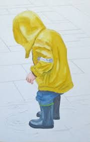 The base colour of raincoat and its shade and highlights are naturally harmonised.