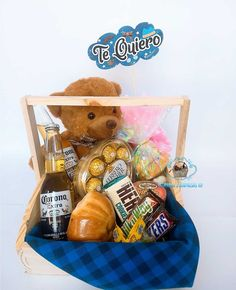 Ideas Para, Maya, Basket, Sweets, Chocolates, Birthday, Gifts, Boyfriend, Creative Gifts
