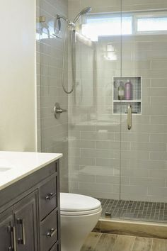 Modern shower remodel shower stall walk in showers for small bathrooms marvelous bathroom before and after Bathroom Renos, Bathroom Layout, Bathroom Renovations, Master Bathroom, Bathroom Ideas, Budget Bathroom, Basement Bathroom, Shower Ideas, Bathroom Cabinets