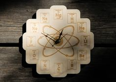 Hey, I found this really awesome Etsy listing at https://www.etsy.com/listing/163484388/wood-periodic-table-clock-baltic-birch