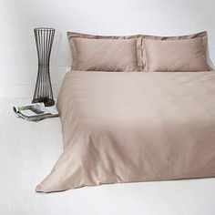 August Grove This one colour duvet cover set is perfect for those who love pure minimalism. It will add a touch of cleanness and freshness to any bedroom. Bed linen has a special finishing that will give you the silky touch of the surface. Satin Bedding, Linen Bedding, Bedding Sets, Silky Touch, Sewing Material, One Color, Duvet Cover Sets, Modern, Bed Pillows